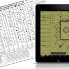 Electronic baseball scoring application.