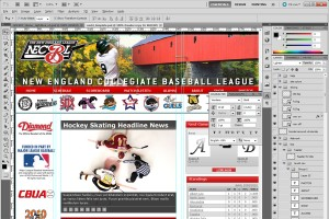 A baseball website mock-up will be sent to you to approve.