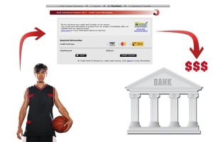 Basketball online registration vendor that provides instant bank deposits.