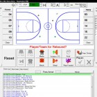 Electronic basketball scoring program.