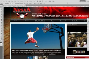 A basketball website mock-up will be sent to you to approve.