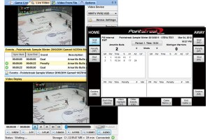 Game video is automatically indexed during the hockey game.