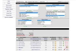 Accounting and financial software for hockey leagues.