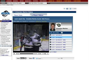 Live videos highlights are automatically indexed by game and player.