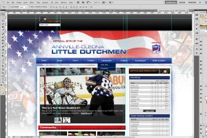 A hockey website mock-up will be sent to you to approve.