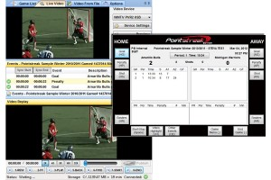 Game video is automatically indexed during the lacrosse game.