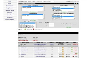 Accounting and financial software for lacrosse leagues.