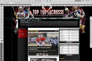 A lacrosse website mock-up will be sent to you to approve.