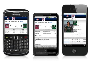Customized color and logo for your softball mobile apps.